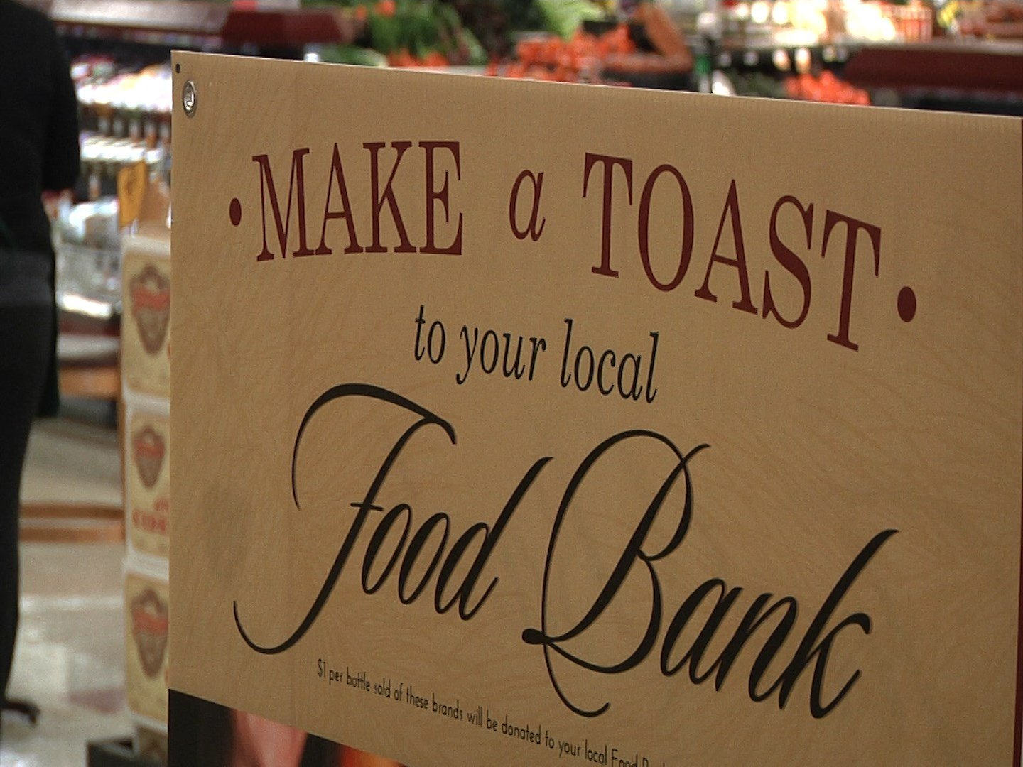 Make a Toast to your local Food Bank