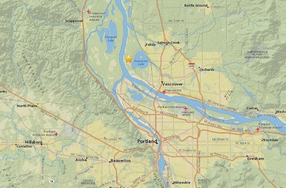 Small quake shakes southwest Washington
