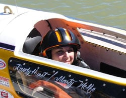 Elizabeth Wolfe will drive a 1.6 litre hydroplane in pursuit of the EC Griffith Cup