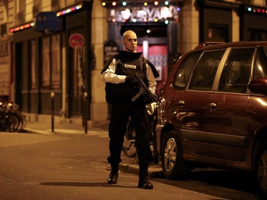 Paris Police officer during deadly attacks
