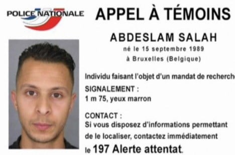 Officials are looking for 26-year-old Salah Abdeslam of Brussels, they believe he is dangerous.