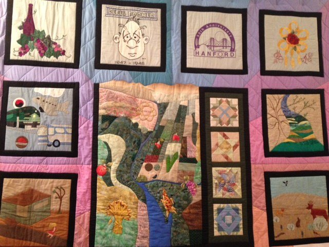 This quilt was inspired by the history of Hanford.