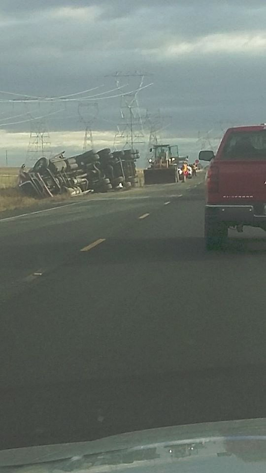 Semi accident along Highway 14