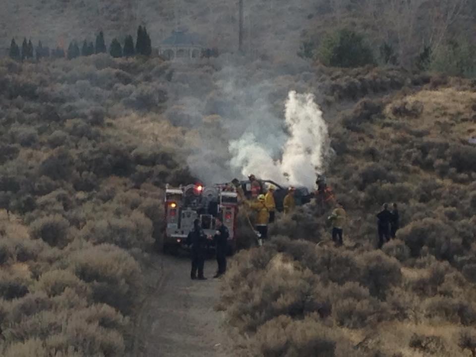 Burned body found in an SUV near Richland