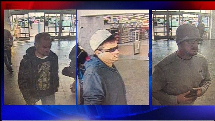 Kennewick Police are looking for these three men suspected of stealing clothes from Walmart.