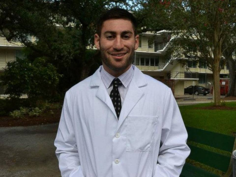 Peter Gold, Medical student who was shot.
