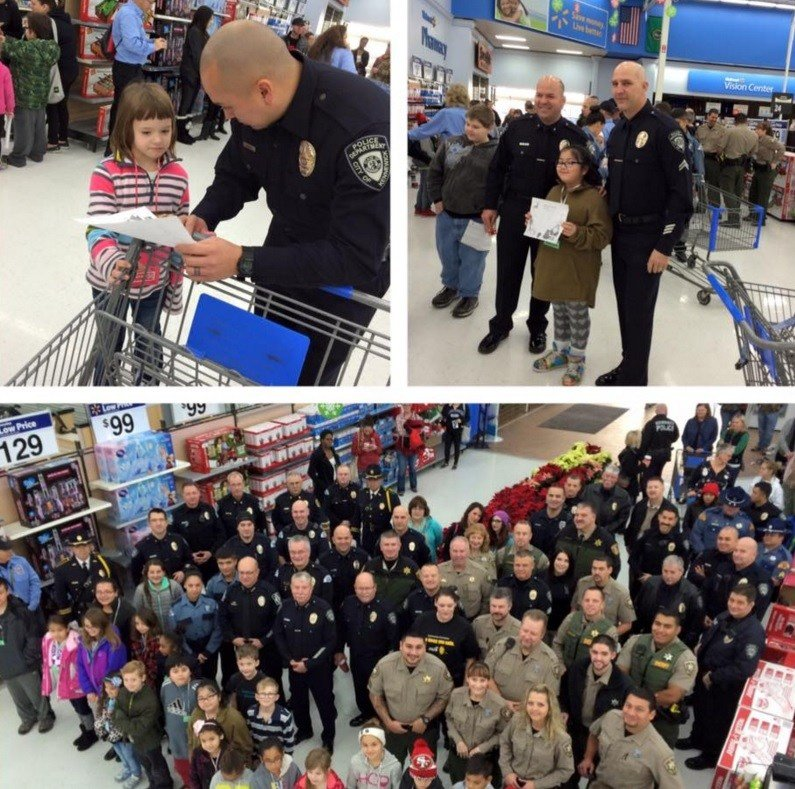 These officers are giving those less fortunate a $100 gift card to the store for the holidays. Volunteers with the KPD CHIPS organization will help kids wrap their gifts.