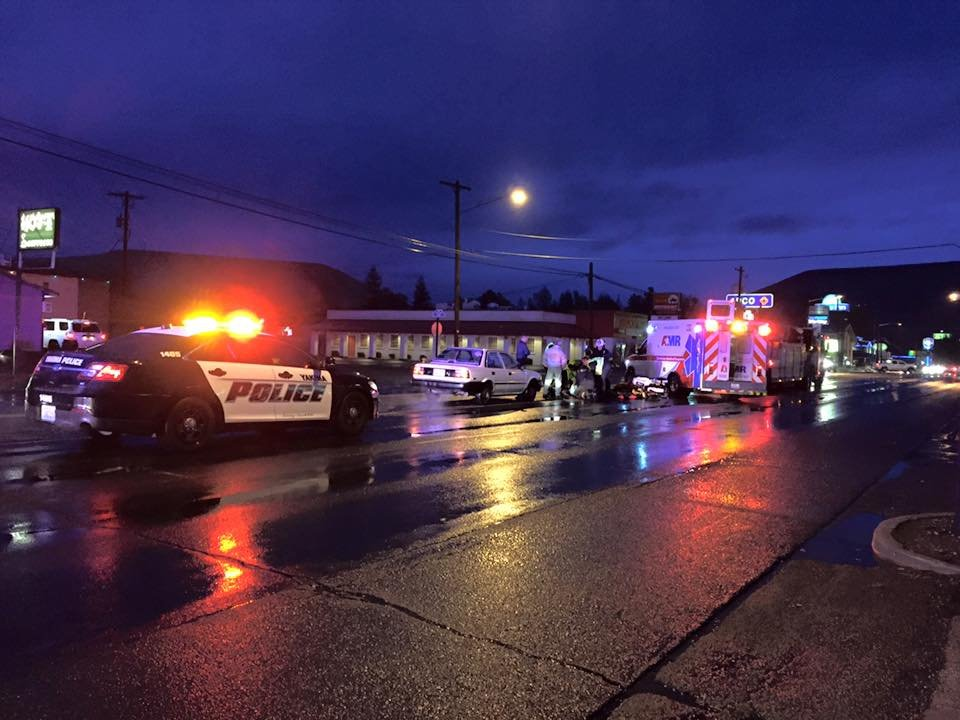 Medics responding after man got hit by car at Yakima intersection