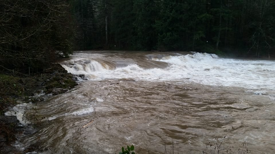 US National Weather Service Portland Oregon Lucia Falls on East Fork of the Lewis River in Clark County