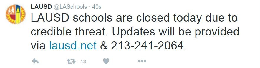 Courtesy: LAUSD Twitter page