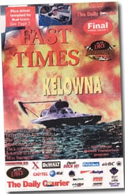 Newspaper special section from Kelowna Race (1999)