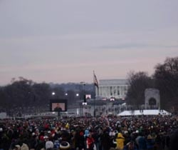 This is a concert at Lincoln Memorial, sent via text message by Nicole Roberts