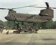 Chinook CH-47 helicopter, former home of the Lycoming turbine engines