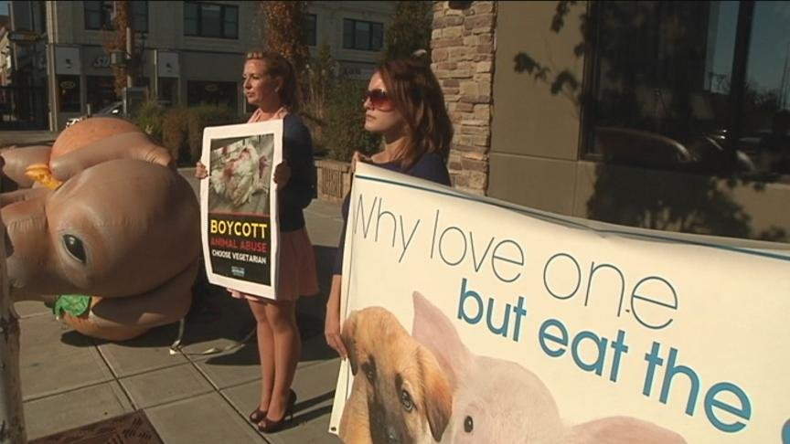 A nationwide protest hit the streets of Yakima Tuesday.