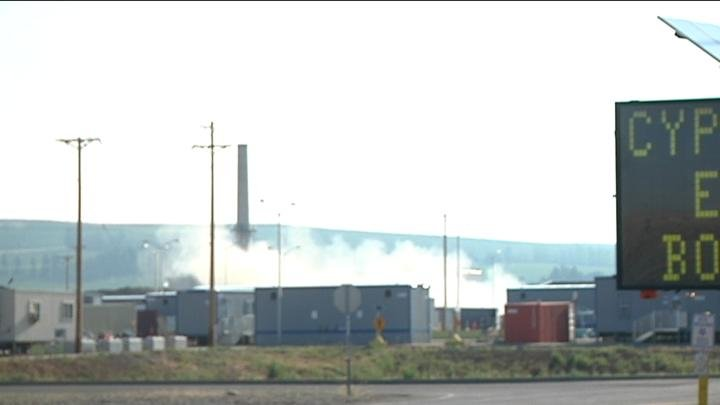 Hanford used explosives to tear down one of its structures.