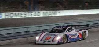 Larry Oberto driving the 09 Daytona Prototype at the Grand Prix of Miami in 2006